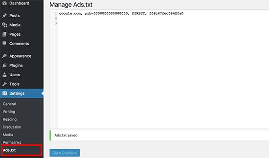 cara memasang ads.txt, cara input kode adstxt, trik memasang kode ads, bagaimana memasang kode ads.txt di wordpress